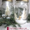 mason jar winter wonderland