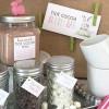 bunny hot cocoa bar & labels