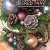 holiday decorated tiered tray