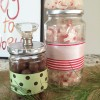 upcycled decorative candy jars