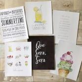 summer art prints