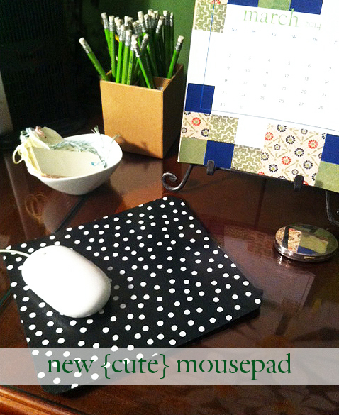 Diy Mouse Pad: Home Office Accessory