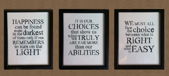 Creative Ways To Display Quotes: Art For Home Office Walls