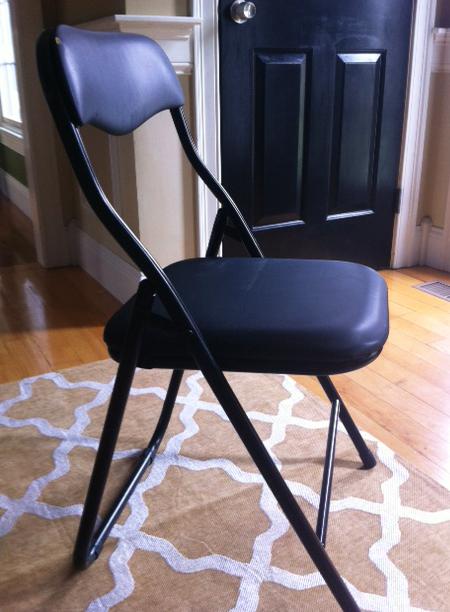 diy folding chair redo