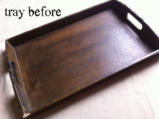 Refinishing A Wooden Tray Diy