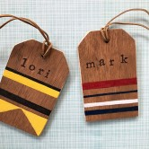 DIY wooden luggage tags
