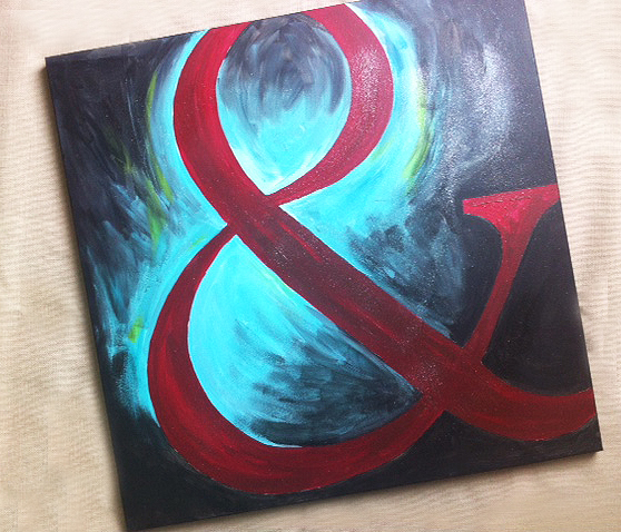 Art for home office walls lots of diy large ampersand painting i have done lots of big canvas paintings for our home and for friends ill have to do a separate post to show you some of my solutioingenieria Images