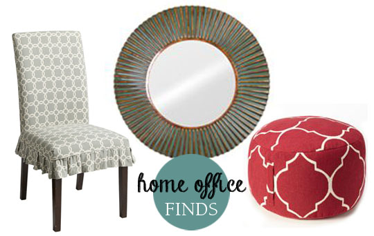 Home Office Finds. Other Additions Include Some Great Finds Like This  Parsons Chair Slip Cover From Pier 1 Imports. This Round Mirror From Kohlu0027s,  ...