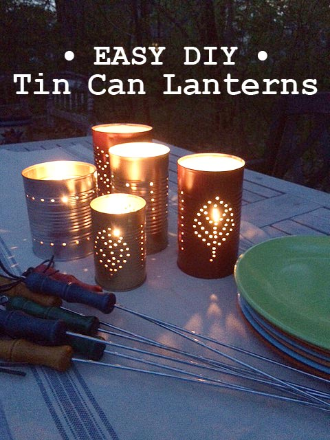 craft ideas with cans summer diy tin can lanterns 3966